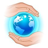 Globe in hands Royalty Free Stock Image