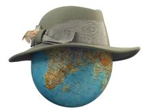 Globe with Hat Stock Photo