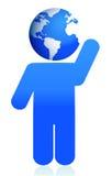 Globe head icon illustration design Stock Images