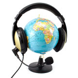 Globe and headphone Royalty Free Stock Photo