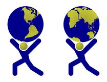 Globe Holding Man Royalty Free Stock Image