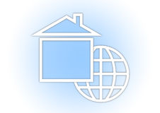 Globe and house Royalty Free Stock Images