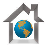 Globe and the house conceptually Stock Image