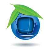 Globe house icon Stock Images