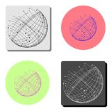 Globe Icône plate de vecteur illustration stock