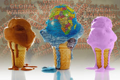 Globe, Ice Cream Stock Image