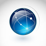 Globe icon. On a white background Royalty Free Stock Photography