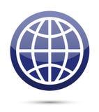 Globe icon. On white background Royalty Free Stock Image