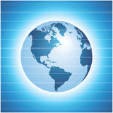 Globe icon  with blue background Royalty Free Stock Photo