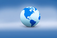 Globe icon with blue background Stock Images