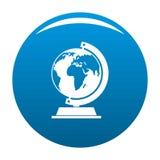 Globe icon blue. Circle isolated on white background royalty free illustration