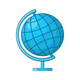 Globe icon in cartoon style Royalty Free Stock Photography
