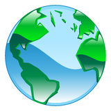 Globe icon clipart illustration Stock Photo