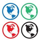 Globe Icon Colors Royalty Free Stock Photo