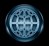 Globe icon dark blue. Royalty Free Stock Photo
