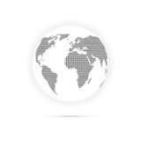 Globe icon dotted Stock Photography