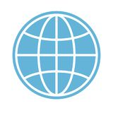 Globe icon, earth planet - global world, global sign - map isola. Ted, eps 10 Stock Photography