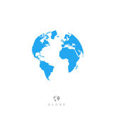 Globe icon. Earth symbol, world sign.  on white background. vector illustration Stock Image