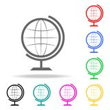 globe icon. Elements of School and study multi colored icons. Premium quality graphic design icon. Simple icon for websites, web d royalty free illustration