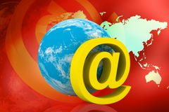 Globe Icon: Email Stock Photos