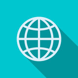 Globe icon in flat style Royalty Free Stock Images