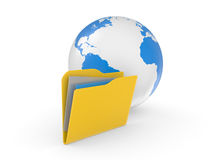Globe Icon: Folder Stock Photos