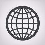 Globe Icon. An images of Globe Icon Royalty Free Stock Image
