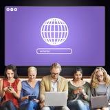 Globe Icon Internet Online Web Graphic Concept Stock Image