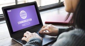 Globe Icon Internet Online Web Graphic Concept Stock Photography