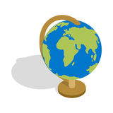 Globe icon, isometric 3d style. Globe icon in isometric 3d style isolated on white background. School supplies symbol Royalty Free Stock Photo
