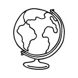 Globe icon. Outlined Royalty Free Stock Images