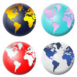 Globe icon set stock image