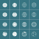 Globe icon set, vector eps10 Stock Image