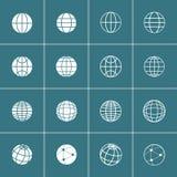 Globe icon set, vector eps10 Stock Image