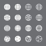 Globe icon set, vector eps10 Royalty Free Stock Photography