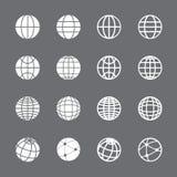 Globe icon set, vector eps10 Royalty Free Stock Photography