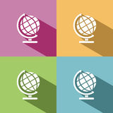 Globe icon with shade Stock Images