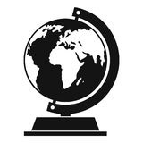Globe icon, simple style. Globe icon. Simple illustration of globe vector icon for web Royalty Free Stock Image