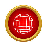 Globe icon in simple style Stock Image
