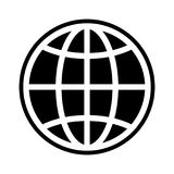 The globe icon. Globe symbol. Flat Vector illustration Royalty Free Stock Images