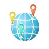 The globe icon or symbol. Stock Photo