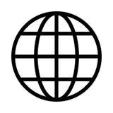 Globe icon. Globe thin line  icon Royalty Free Stock Photos