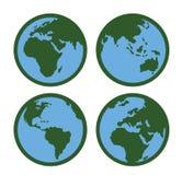 Globe Icon. Vector color Globe Icon on white background Stock Image