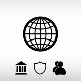 Globe Icon vector illustration. Flat design style Royalty Free Stock Photo
