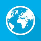 Globe icon. Vector illustration stock photography