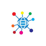 Globe icon vector, social network solid logo illustration, pictogram isolated on white. Royalty Free Stock Photo