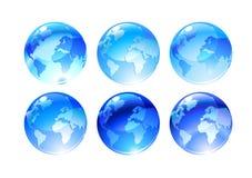 Globe icons Royalty Free Stock Image