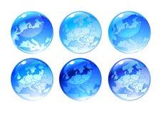 Globe icons Stock Images