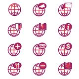 Globe icons. Globe icon and media is suitable for web, presentation etc Royalty Free Stock Image