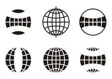 Globe icons Royalty Free Stock Images